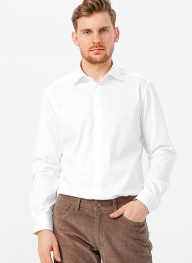 Kip Kip Regular Fit Düz Beyaz Gömlek Beyaz
